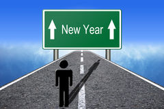 New Year Ahead Royalty Free Stock Photos
