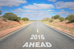 New Year 2016 Ahead stock photography