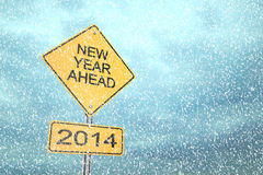 New Year Ahead 2014 Royalty Free Stock Photography