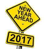 New Year Ahead 2017 Stock Photo
