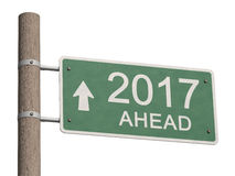 New Year 2017 ahead Stock Photo