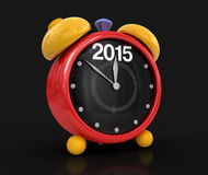 New Year 2015 with alarm clock (clipping path included) Royalty Free Stock Photography