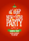 New Year all night party design. Stock Photos