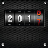 2017 New Year Analog Counter detailed vector Stock Images