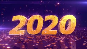 New Year 2020 Animation vector illustration