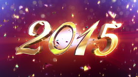 New Year 2015 Animation stock video