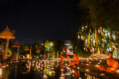 New year anniversary festival at Chaing mai Royalty Free Stock Image