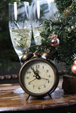 New Year in antique retro style Royalty Free Stock Photo