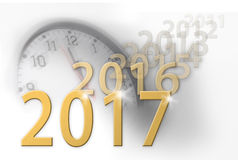 2017 the new year approaches Stock Photos
