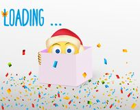 New Year is approaching. A happy postcard stock illustration