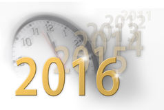 2016 new year approaching, old years fade away. Stock Images