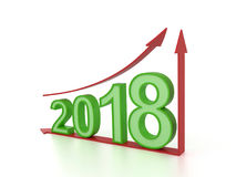 New Year 2018 with Arrow. 3D Rendered Image royalty free illustration
