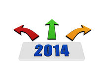 New year 2014 with arrows Stock Image