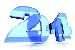 2014 New Year. 2014 as rendered letters. 3D illustration Royalty Free Illustration