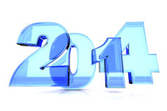 2014 New Year. 2014 as rendered letters. 3D illustration Royalty Free Stock Photos