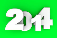 2014 New Year. 2014 as rendered letters. 3D illustration Stock Photography