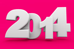 2014 New Year. 2014 as rendered letters. 3D illustration Stock Photo