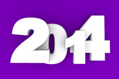 2014 New Year. 2014 as rendered letters. 3D illustration Royalty Free Stock Photography