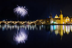 New year atmosphere in Prague, Czech Republick Stock Images