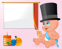 New year baby celebration Stock Photos