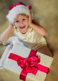 New year, baby gift glad Royalty Free Stock Image