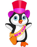 New Year baby penguin royalty free illustration