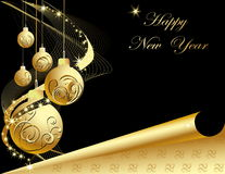 New Year background. Vector illustration of New Year background stock illustration