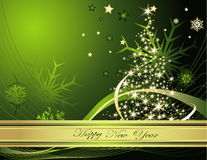 New Year background. Vector illustration of New Year background Stock Photo