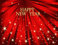 New Year background. Red and gold New Year background Stock Photography