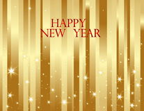 New Year background. Vector gold New Year background Stock Photography