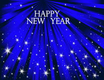New Year background. Vector blue New Year background Royalty Free Stock Photography