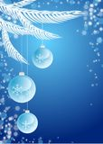 New-year background. Vectorial new-year background with toys Royalty Free Stock Photos