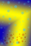 New year background. Blue yellow Stock Photography