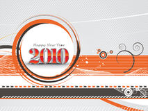 New year background. 3d new year 2010 in abstractwve line background. Vector illustration Royalty Free Stock Photos