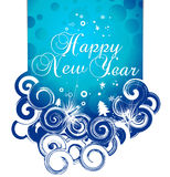 New year background. Xmas snow background with  new year 2010  in white background. Vector illustration Stock Photos