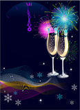 New Year background royalty free illustration