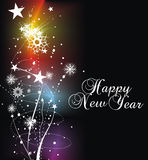 New year background. Xmas snow background with  new year 2010  in rainbow background. Vector illustration Royalty Free Stock Image