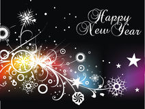 New year background. Xmas snow background with  new year 2010  in rainbow background. Vector illustration Stock Images