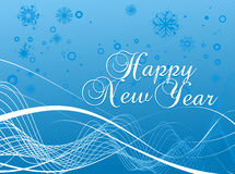 New year background. Xmas snow background with  new year 2010  background. Vector illustration Royalty Free Stock Photo
