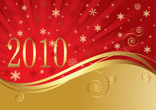 New Year background. In golden color Royalty Free Stock Photo