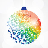 New year background. Colorful new year background. New Year, Christmas ball Royalty Free Illustration