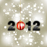 New Year Background - 2012. New year background with decoration and 2012 numbers stock illustration