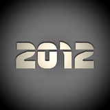New year background. 2012 carbon fiber & metal background Royalty Free Stock Images