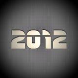 New year background. 2012 carbon fiber & metal background stock illustration