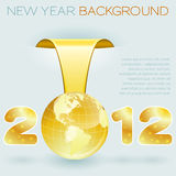 New Year background. With stylized 2012 with Earth, element for design, vector illustration vector illustration