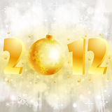 New Year background. With stylized 2012 with Bauble, element for design, vector illustration stock illustration
