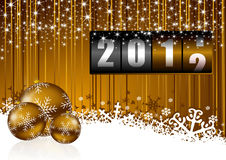 New year background. With christmas balls and counter stock illustration