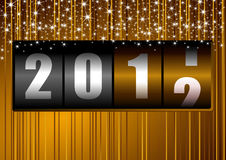 New year background. With counter vector illustration