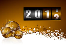 New year background. With christmas balls and counter vector illustration