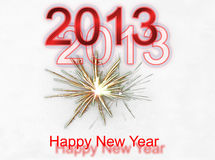 New Year Background. A beautiful New Year card Stock Photo